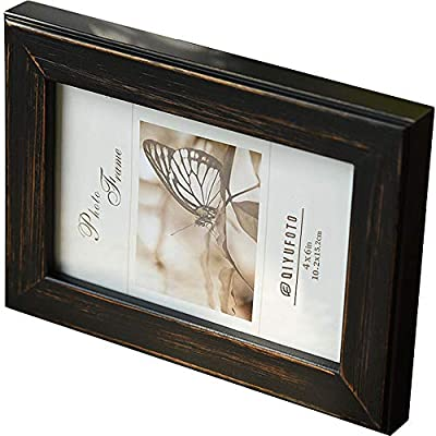 QIYUFOTO Picture Frames 4x6 Natural Solid Wood ...