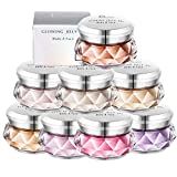 Gracelaza 8 Colori Ombretti Glitter Ombretto Brillantinati Cosmetico Trucco Occhi Ombra Diamante Shimmer Makeup Polvere Powder per Corpo e Guancia