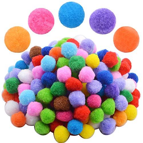 200pcs 2cm Pompones Suaves Colores Bolas Esponjosas de Bricolaje Artesanía Manulidades Decoraciones