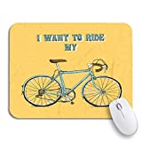 Gaming Mouse Pad Hipster Vintage Fahrrad Fahrrad Fahrrad Fahrrad Board Fahrrad gezeichnet rutschfeste Gummi Backing Mousepad für Notebooks Computer Maus Matten