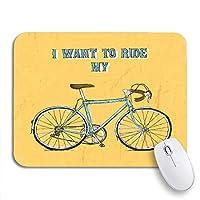 NINEHASA 可愛いマウスパッド ヒップスターヴィンテージ自転車自転車バイクサイクリングボードサイクルノンスリップゴムバッキングマウスパッドノートブックコンピュータマウスマット
