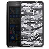 DeinDesign Silikon Hülle kompatibel mit Microsoft Lumia 535 Dual SIM Hülle schwarz Handyhülle Camouflage iBlali YouTube