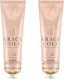 Grace Cole Ginger Lily & Mandarin Hand & Nail Cream 2 x 30ml