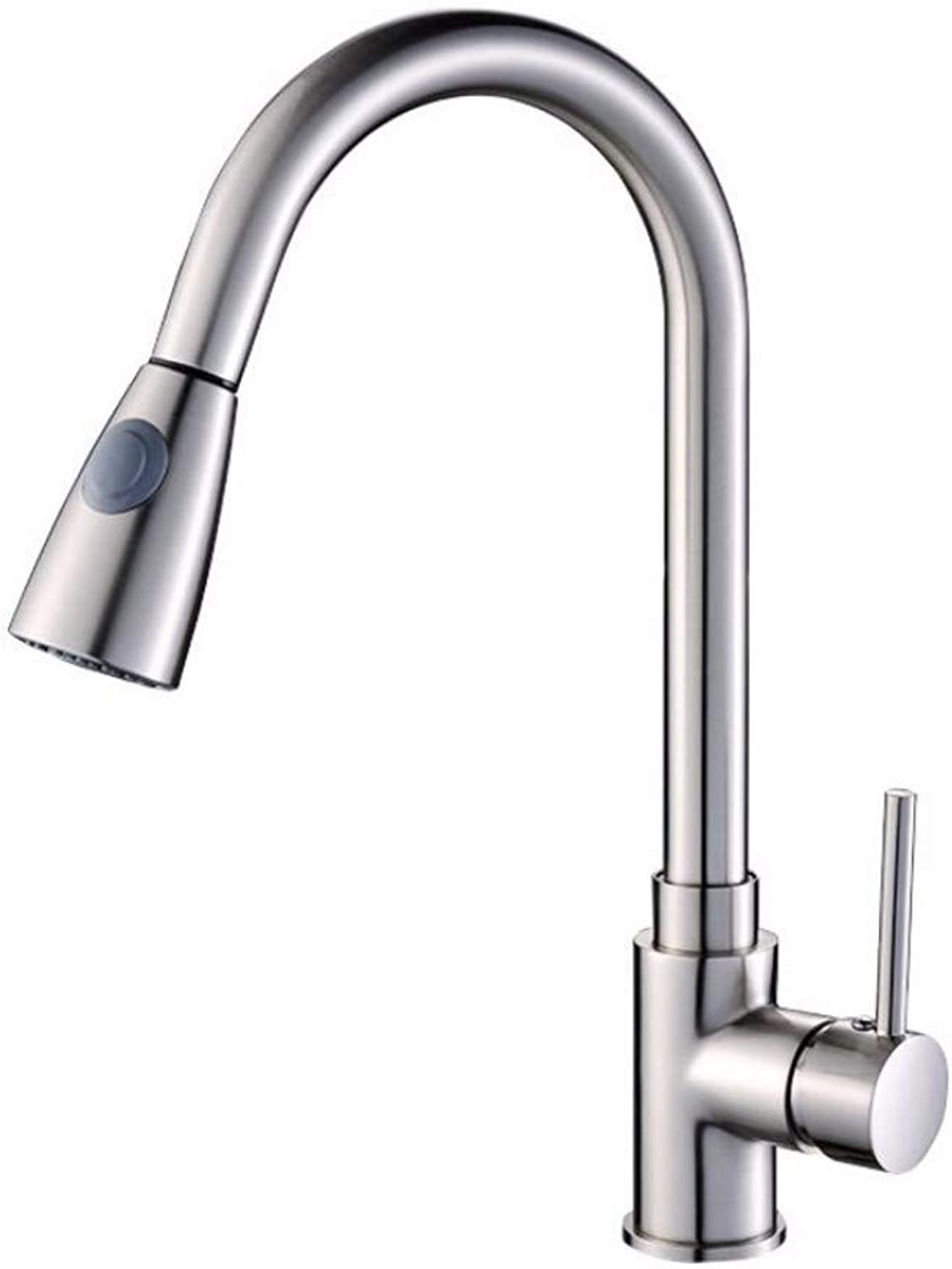 ZPSPZ kitchen mixer tap Kitchen Faucet Wire Drawing Faucet Cold and hot Water Faucet Sink Pulling Faucet