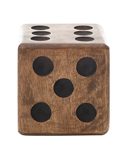 Creative Co-Op DA0725 Hand Carved Mango Wood Dice