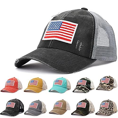Gorro unisex a la moda, gorra de béisbol ajustable, hip hop, coleta de caballo con goma para el pelo, gorro de verano, sombrero de playa para mujeres, hombres y adolescentes