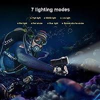 無毒IPX818000lm500M防水水中懐中電灯キャンプ懐中電灯水中ツール用