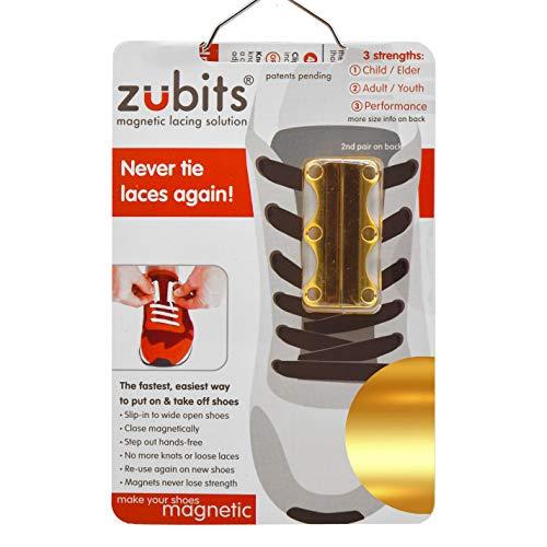 Zubits - Chiusura magnetica per scarpe da donna, uomo, bambino, Giallo (gold), #2 Jugendliche/Erwachsene