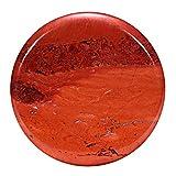 Morella Damen SMALL Coin 23 mm Edelstein roter Jaspis Chakren Scheibe Halsketten Anhänger und zur...