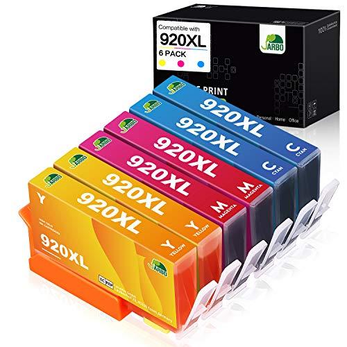 JARBO 920XL 920 XL kompatible Druckerpatronen (2 Blau, 2 Rot, 2 Gelb) mit hoher Reichweite Kompatibel für Officejet 6500 6500A 6000 7000 7500 7500A