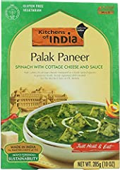Soft cubes of cottage cheese simmered in fresh spinach puree Shelf stable, keeps fresh for over a year Ready to eat dishe selected from the authentic Indian recipes of ITC gourmet restaurants The convenient way to sample the delicacies of India at ho...