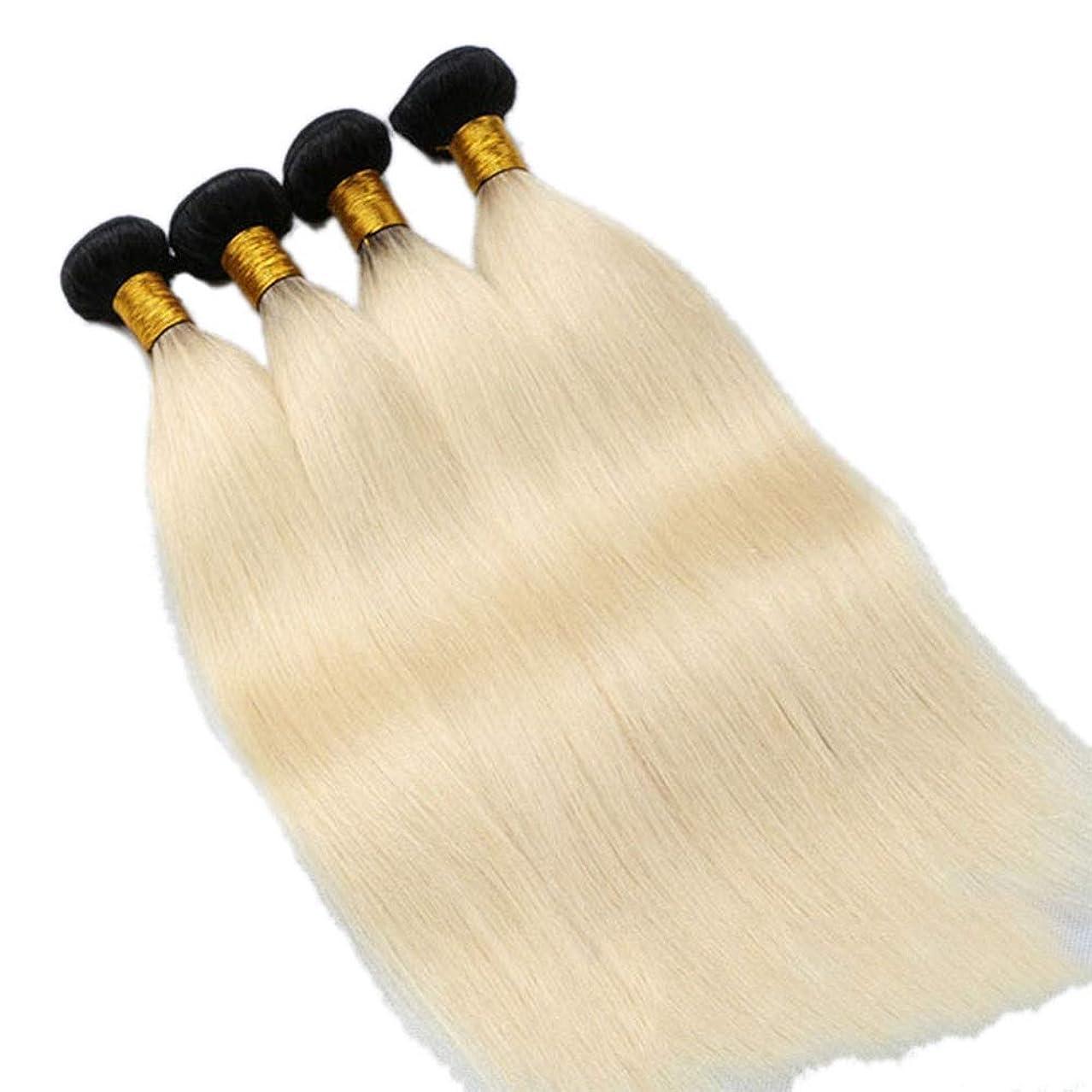 ラダ混雑砂漠BOBIDYEE ブラジルのストレートヘアハニーブロンドシングル12インチ織りバンドル100%人毛エクステンションウィーブで縫う(10インチ-24インチ)女性用合成かつらレースかつらロールプレイングかつら (色 : Blonde, サイズ : 10 inch)