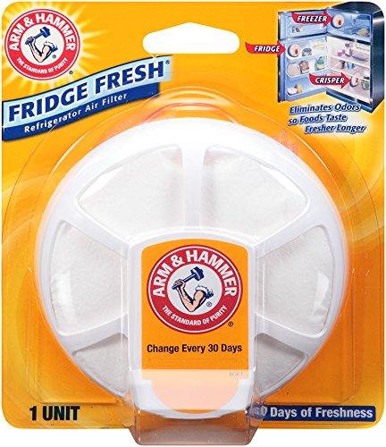 Arm & Hammer 33200-01710 Baking Soda Fridge Fresh Air Filter, 0.28 oz (Pack of 8)