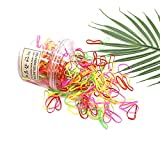 200pcs Mini Rubber Bands, Super Elastic Hair Ties for Mens Slicked Back Hair Pigtail, Kids Hair, Braids Hair, Womens Wedding Hairstyle, All in One Box