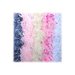 Feather boa for adults in 5 colors.