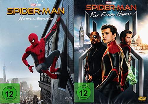 Spider-Man Homecoming + Far From Home im Set - Deutsche Originalware [2 DVDs]