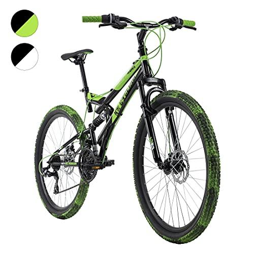 KS Cycling Mountainbike Fully 26'' Crusher schwarz-grün RH 44 cm
