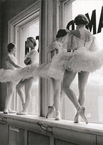 Ballerinas On Window Ledge - Avanti America Collection Dance / Dancing Birthday Card
