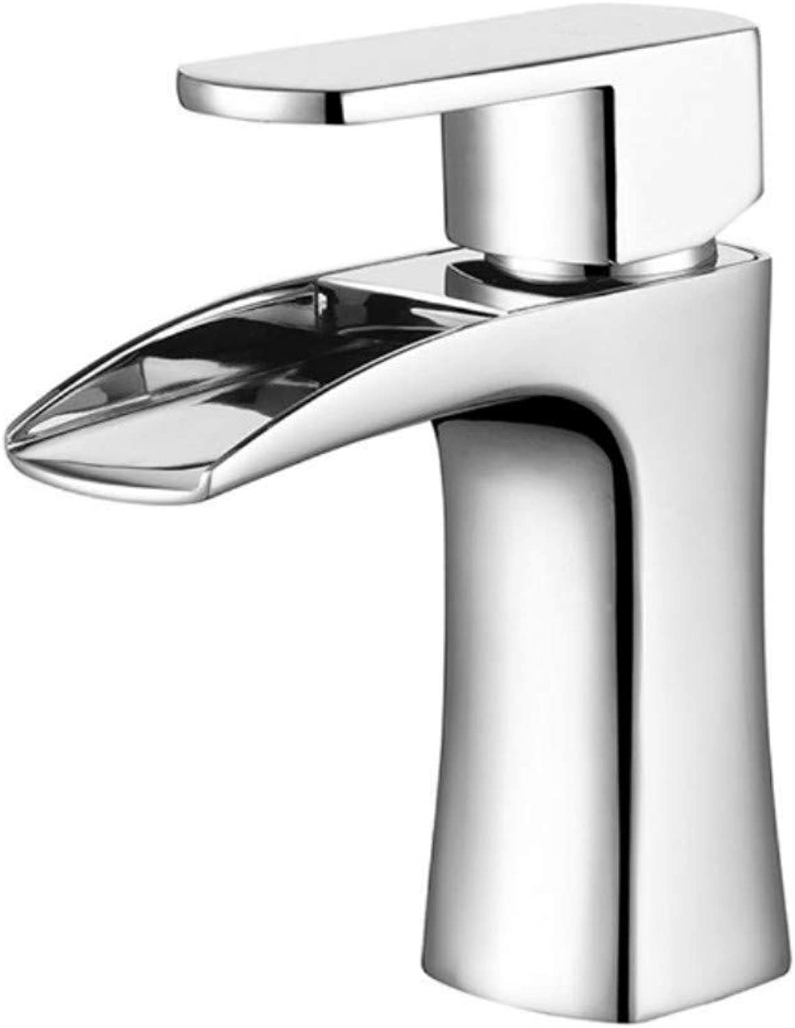 Bathroom Sink Basin Lever Mixer Tap Hot and Cold Taps Lavatory Faucet Chrome