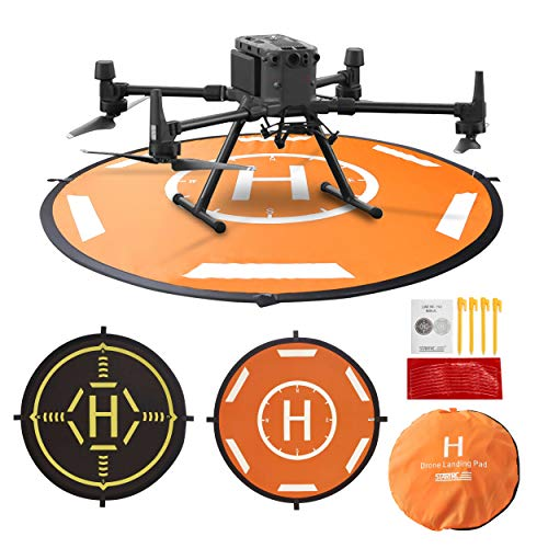 Drone Landing Pad Waterproof 40inch Portable Foldable Aircraft Launch Pad for DJI FPV,Yuneec H520/H480,Inspire1/2 Landing Pad(110CM)