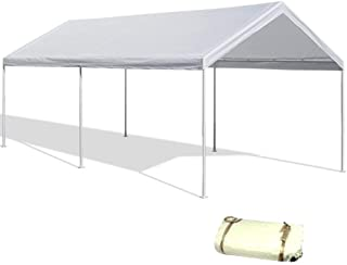 DAY STAR SHADES 20'X40' White Canopy Replacement Cover Top Roof Tarp Shade Car Motorcycle Boat Jetski or Trade Show Canopy