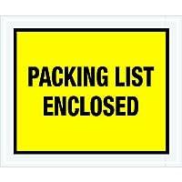 Tape Logic TLPL428 Packing List Enclosed Envelopes Full Face 10 x 12 Yellow (Pack of 500) [並行輸入品]