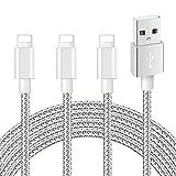 Mitesbony Cable Chargeur Phone Lot de 3 2m en Nylon Tressé Cordon Certifié CE...