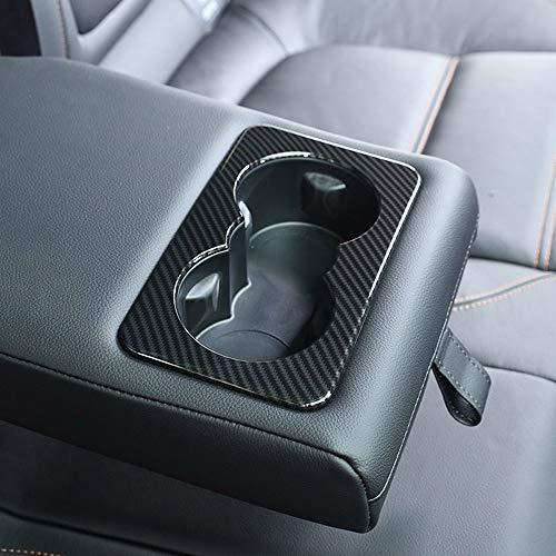 Garniture de porte-gobelet arrière en plastique ABS style fibre de carbone pour Jag XE XF F-Pace