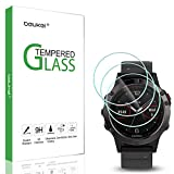 (3 Pack) Beukei for Garmin Fenix 5 and Fenix 5 Plus Screen Protector Tempered Glass, (37 mm), Anti Scratch, Bubble Free (Not Fit Fenix 5S)