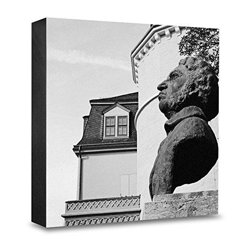 COGNOSCO HG de we107Foto de Madera Bloque Medium15x 15cmLienzo con fotografa de Arquitectura del Monumento de WeimarGato Disfrazado, Madera, Negro de Color Blanco, 15x 15cm,