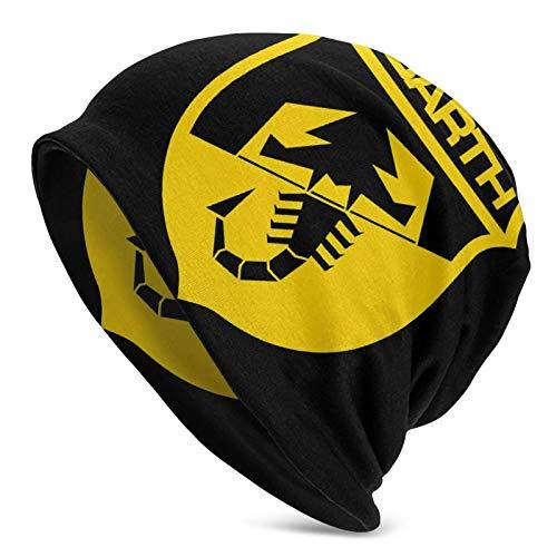 Lsjuee Abarth Sombrero de punto de calavera de color sólido unisex Negro