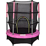"""Greenbay 4.5FT 55"""" Outdoor Junior Trampoline Set with Enclosure Safety Net and Skirt"""