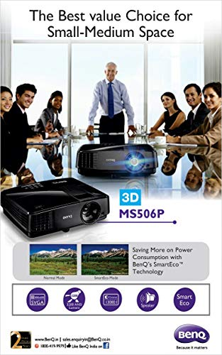 BenQ MS506p DLP Projector with HDMI to VGA Converter
