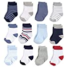 Hudson Baby Unisex Cotton Rich Newborn and Terry Socks and Terry Socks