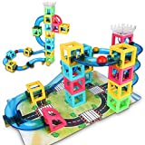 Gamenote Marble Run Set Game - 32pcs STEM Learning Toy for kids,...