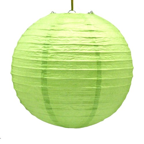 """12"""" Lime Green Paper Lanterns : package of 6"""
