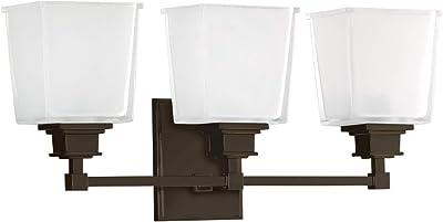 Nuvo Lighting 60//5212 Benson Two Light Vanity 100 Watt A19 Max CUL Damp Location Satin White Glass Polished Nickel Fixture
