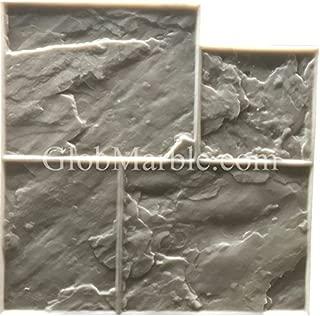 GlobMarble Stamped Concrete. Slate Stone Stamp SM 3002/F. Ashlar Slate Concrete Stamp Floopy Mats