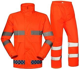BGROESTWB Snow Rainwear Waterproof Jackets Reflective Raincoat Road Traffic Warning Outdoor Raincoat Trousers Suit Multifu...