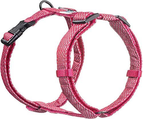 Embark Illuminate Reflektierendes Hundegeschirr - Einfaches An- und Ausziehen, kein Würgen - Hundegeschirr für die meisten Rassen, Medium, rose