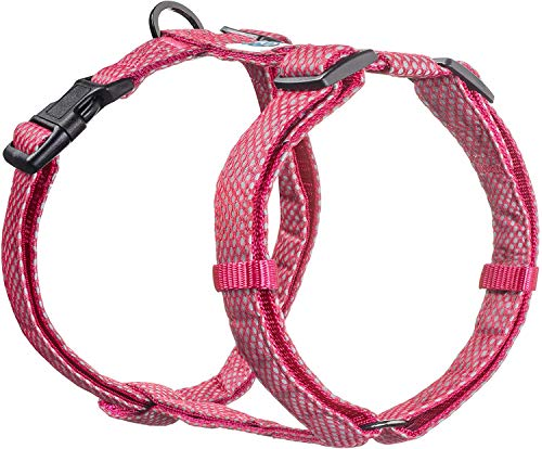 Embark Illuminate Reflective Dog Harness – Easy On and Off, No Choke Dog Walking Harness - Be Seen from All Angles - Dog Harnesses for Most Breeds (Medium, Pink)