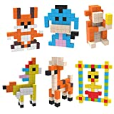 PicassoTiles Mini Pixel Magnetic Puzzle Cube 400 Piece Mix & Match Cubes Sensory Toys STEAM Education Learning Building Block Magnets Children Construction Toy Set Stacking Magnet Creative Kit PMC400