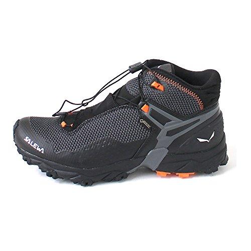 Salewa MS Ultra Flex Mid Gore-TEX, Zapatillas para carrera de senderos Hombre, Negro (Black/Holland), 40.5 EU