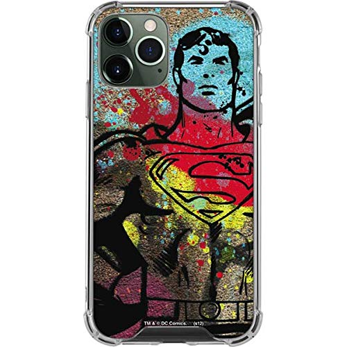Skinit Clear Phone Case Compatible with iPhone 12 Pro Max - Officially Licensed Warner Bros Superman Color Splatter Design