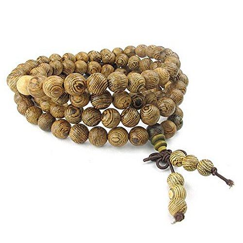 Fltaheroo Joyería para hombre y mujer, collar de perlas budistas tibetanas de oración Mala