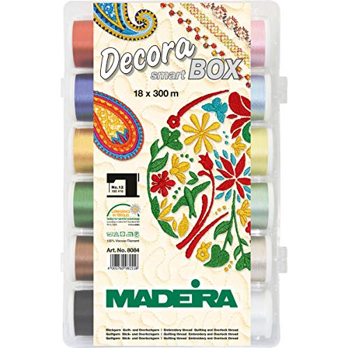 Buy Madeira NO 12 18 Spool Decora Smartbox