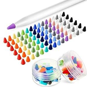 Weewooday 96 Tappi per Pennini di Pencil in Silicone Compatibile con Pencil 1a e 2a Generazione, Copri di Pencil Tip…