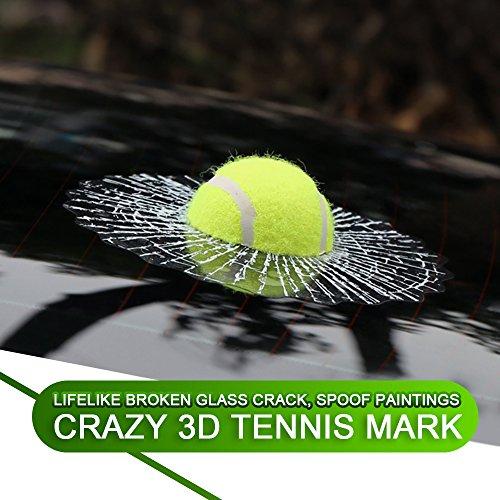 2018 Kreative Lustige 3D Bälle Aufkleber Autoaufklebe Golf tennis ball Hits Auto Fenster Sticker