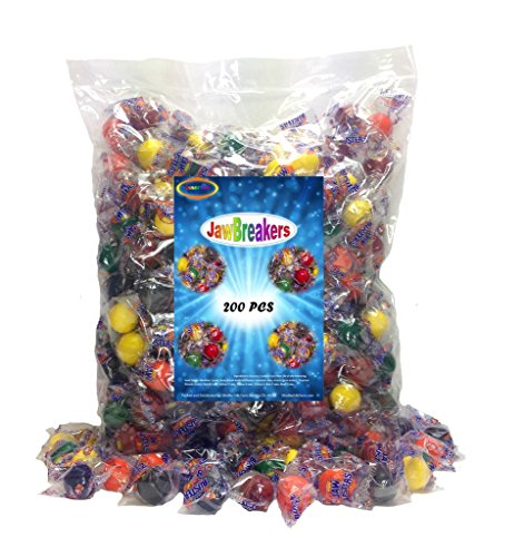 Assorted Jawbreakers 200 Individually Wrapped Jaw Buster Candy