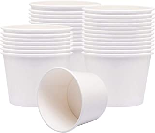 Benail Paper Soup Cups, Paper Hot/Cold Ice Cream Cups - 100 Count (White) (8 oz)